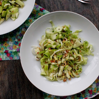Leek, Green Apple, and Walnut Salad