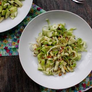 Leek, Green Apple, and Walnut Salad.
