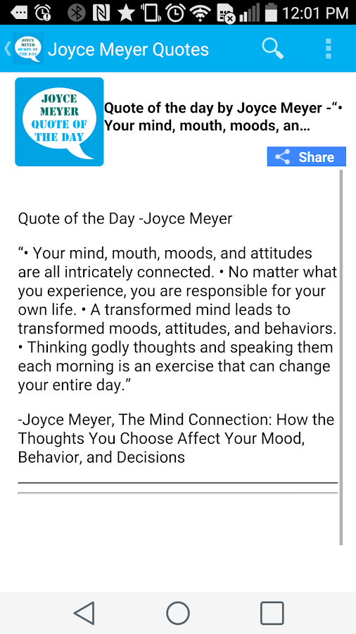 Joyce Meyer Quote of the Day- screenshot
