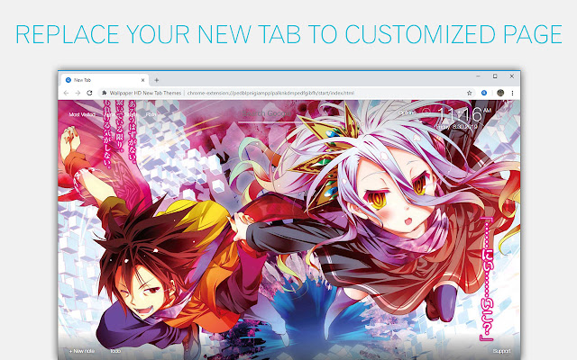 No Game No Life Backgrounds HD Custom New Tab