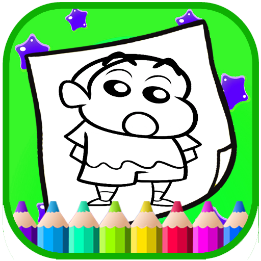Art Shin chan Coloring Page Cartoon Game (game)