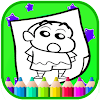 Art Shin chan Coloring Page Cartoon Game Icon