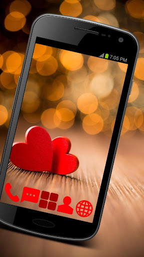 玩免費個人化APP|下載Love Hearts GO Launcher Theme app不用錢|硬是要APP