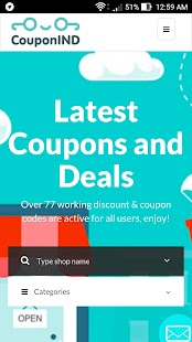 CouponIND Free Coupons & Deals- screenshot thumbnail