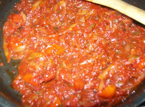 Add the tomato paste & pepper and continue to cook on low till the...