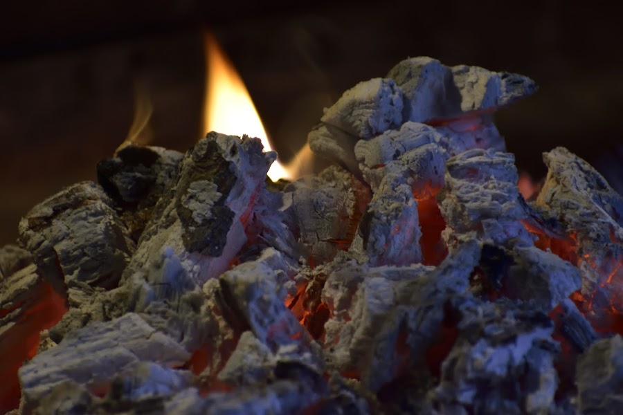Hot coals by Richard Booysen - Abstract Fire & Fireworks