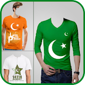 Pak Flag Shirt Photo Editor - 14 August