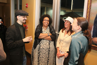 Photo: Lilli Lewis (pianist) and Rebecca Green (bassist) at Intermission with Guests -