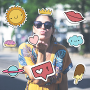 New Stickers for Photos: Sticker App for Girls