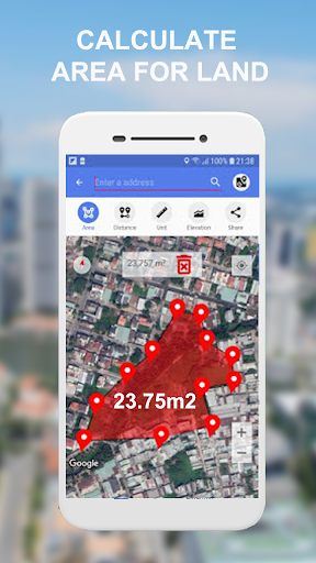Land Area Calculator - Distance Calculator Map App Report on Mobile