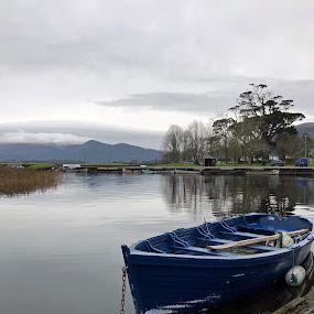 Fishing boat by Annalie Coetzer - Transportation Boats ( mountains, sea, lake, fishing, boat, river )