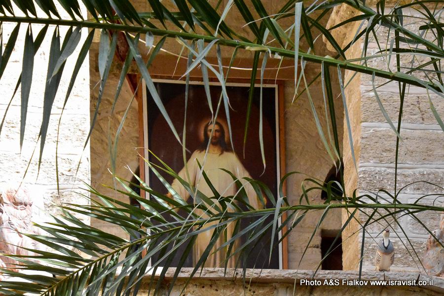 Икона в монастыре Герасима Иорданского в Иудейской пустыне.