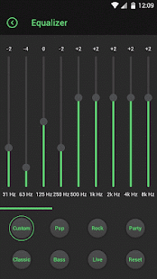 Lark Player Theme - Green - náhled