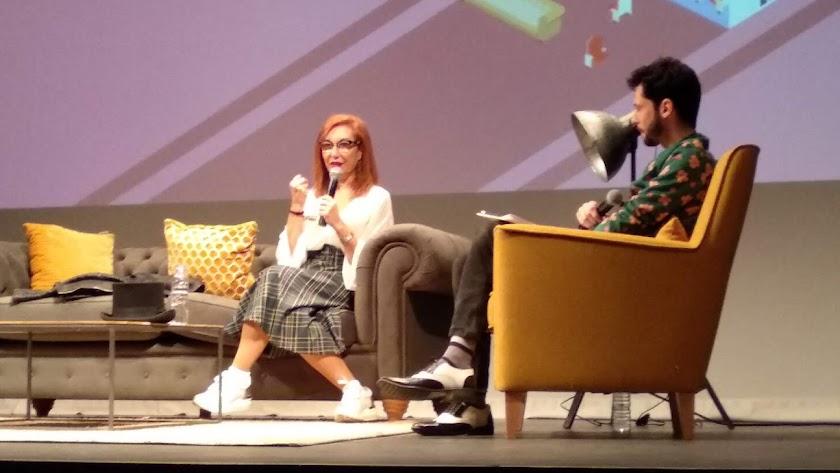 Mercedes Hoyos, durante la conversación de Cinejoven 2018.