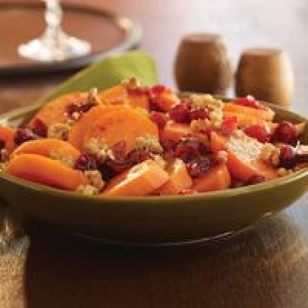 Sweet Potatoes With Walnuts And Cranberries