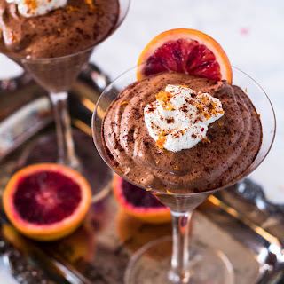 Mexican chocolate Mousse With Ancho and Orange.