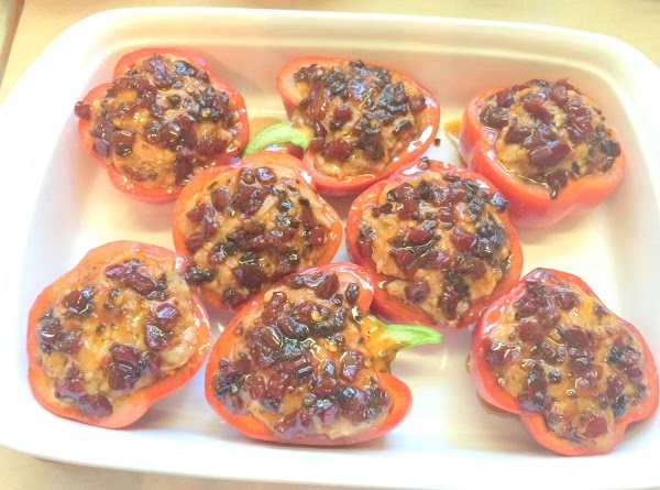 Remove pan from oven and spoon the remaining Red Bell Pepper & Ancho Chili...