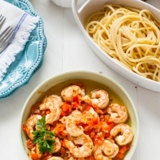 Red Pepper and Garlic Shrimp Pasta