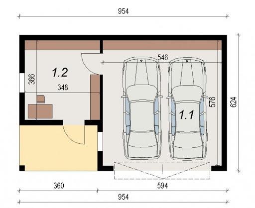AD-G3.9 - Rzut garażu
