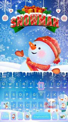 Snowman Emoji Keyboard Theme☃