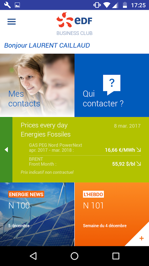 EDF Business Club – Capture d'écran