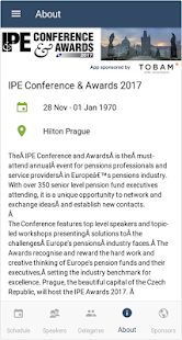 IPE Events App - náhled