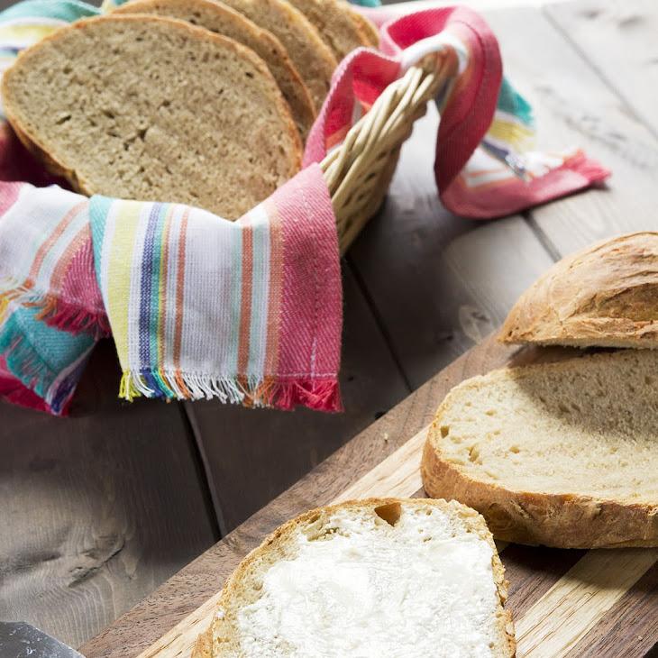 Roasted Garlic No-Knead Bread Recipe