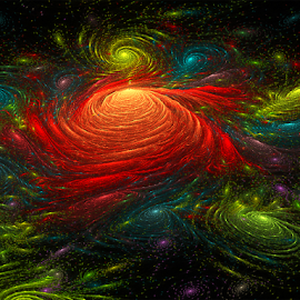 Universe by Cassy 67 - Illustration Abstract & Patterns ( abstract, planet, colorful, abstract art, swirl, digital art, cosmos, swirls, spiral, fractal, universe, digital, fractals )