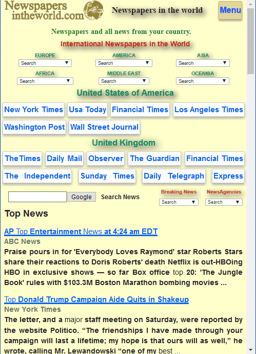 Newspapers- screenshot