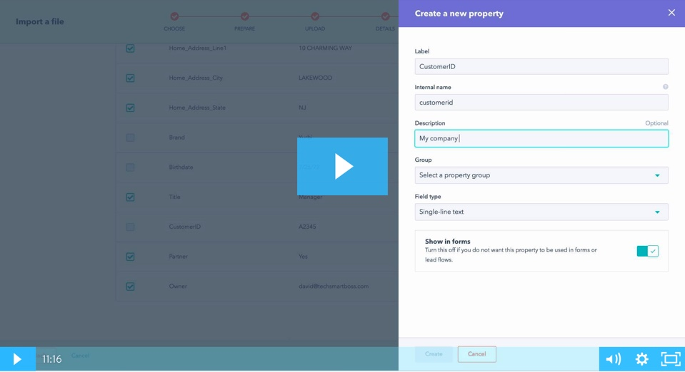 Hubspot CRM Couse Thumbnail - Importing Contacts w Custom Properties