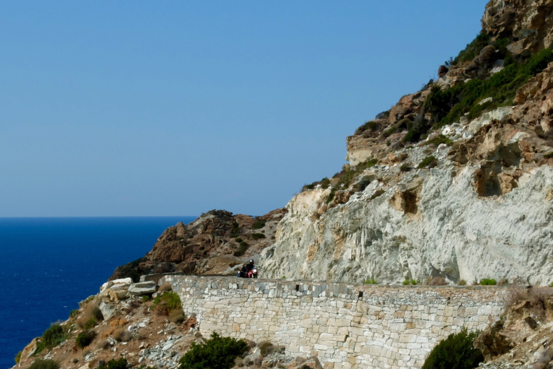Motorcycles on Mountain Roads in Corsica