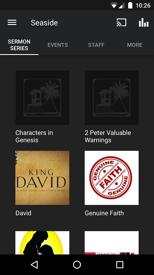 Seaside Community Church App- screenshot