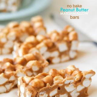 No Bake Peanut Butter Marshmallow Bars