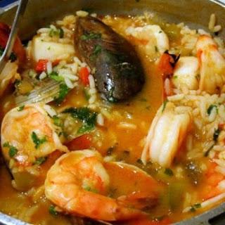 Arroz de Marisco – Seafood Rice Casserole.