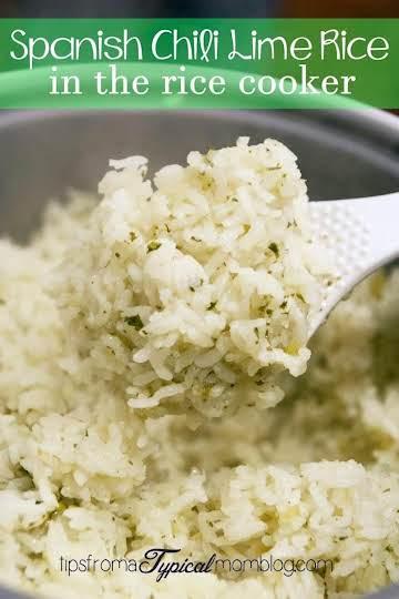 Spanish Chili Lime Rice