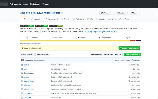 HubCare - Check GitHub repositories' health