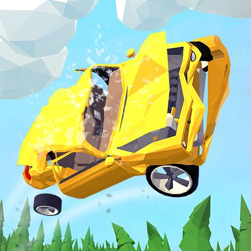 Blocky Car Stunts Crash Test: Demolition Race (game)
