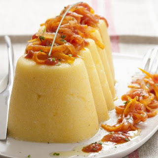 Cornmeal Puddings with Vegetables.