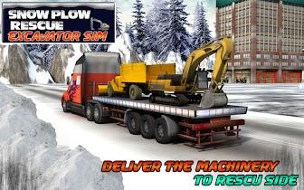 Winter Snow Rescue Excavator - screenshot thumbnail 08