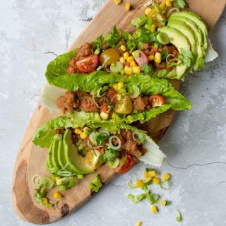 Refried Bean Lettuce Wraps