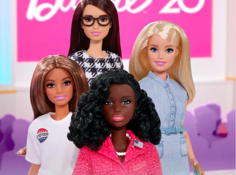 Barbie unveils 2020 campaign team with black doll as presidential candidate