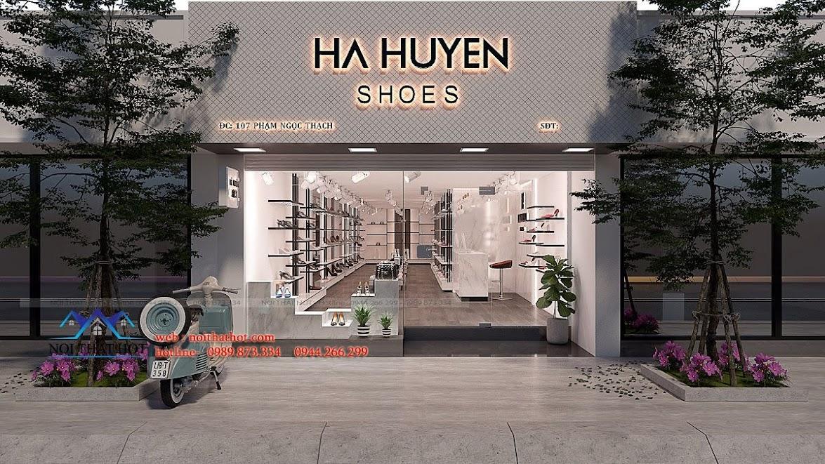 thiết kế shop giày dép thời trang ha huyen 1