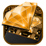 Golden Shining Diamond Keyboard Icon