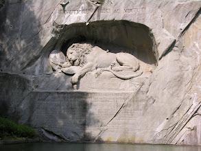 Photo: Lucerna - pomnik umierającego lwa