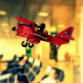 Dream a Little Dream  by Ne-z Lim - Artistic Objects Toys ( airport, toy, fly, airplane, travel )