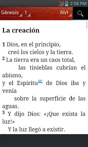 Bible NIV - New International Version (Spanish) 1.8 screenshots 2