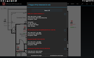 Screenshot of WiFi Site Survey by WiTuners