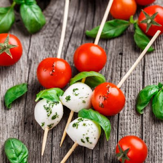 Super Quick Caprese Skewers