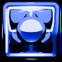 NEXT LAUNCHER THEME Blue Metal icon