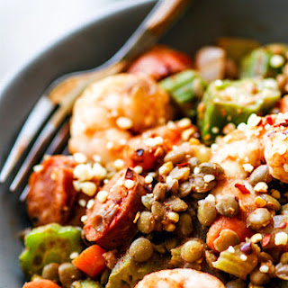 Lentil Shrimp Jambalaya Bowls {Grain Free}